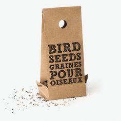 bird seed packaging via uqam