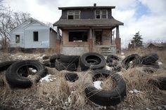 Detroit abandoned ghetto