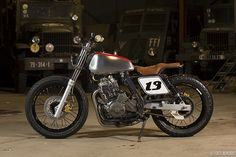 Written by Martin Hodgson.  When you think of a dual-sport motorcycle, the first things that comes to mind are the Dakar rally bikes and more recently the BMW GS series ridden by actor's Ewan... Tracker Motorcycle, Scrambler Motorcycle, Flat Tracker, Bobber Custom, Custom Bikes, Honda, Aftermarket Motorcycle Parts, Moto Cafe, Dual Sport