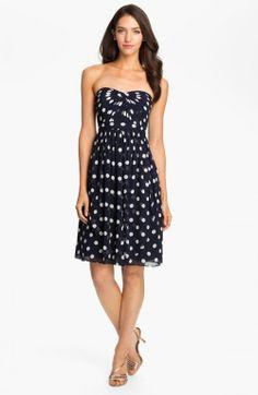 Jenny Yoo Strapless Polka Dot Convertible Chiffon Dress Online Only | Clothing