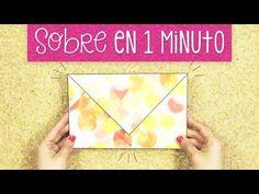 Cómo hacer un sobre con una hoja / fácil paso a paso ✎ Craftingeek - YouTube