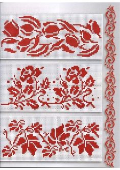 ru / Фото # 46 - Things to Create - tymannost - Gallery.ru / Фото # 46 – Things to Create – tymannost - Cross Stitch Borders, Crochet Borders, Cross Stitch Flowers, Filet Crochet, Cross Stitch Charts, Cross Stitch Designs, Cross Stitching, Cross Stitch Embroidery, Cross Stitch Patterns