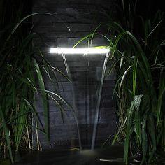 Marvelous Details zu Wasserfall f r den Garten Teich Gartenteich zum selber bauen Wasserspiel LED
