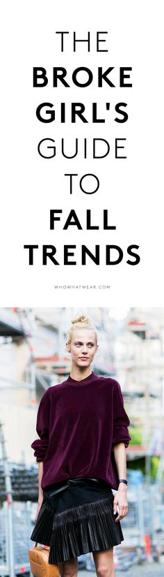 Shop fall's best trends on a budget