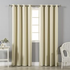 """Best Home Fashion, Inc. Solid Blackout Thermal Grommet Curtain Panels Color: Avocado, Size: 52"""" W x 96"""" L"""