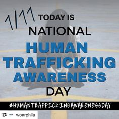#Repost @woarphila (@get_repost)  Mark your calendars because 1/11 is #HumanTraffickingAwarenessDay Together let's raise awareness about all forms of Sexual Violence. #BlueCampaign #WearBlueDay #SupportSurvivors #philadelphia #philly #support #help
