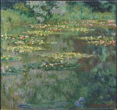 The Waterlily Basin, painted by Monet in 1904.
