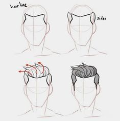 Anatomy Drawing Tutorial Discover more about drawing tips Guy Drawing, Drawing People, Drawing Tips, Drawing Sketches, Pencil Drawings, Drawing Male Hair, Drawing Ideas, Drawing Poses Male, Anatomy Drawing