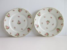 Set of 2 gda france #limoges 9.5 inch #dinner #plates gold trim rose buds  ,  View more on the LINK: 	http://www.zeppy.io/product/gb/2/291983202394/