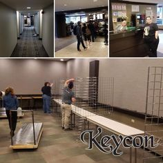 We're awake, fully caffeinated, and setting up. See you tonight! #keycon 35