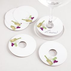 World Market Wine Glass Tags Wine Bottle Tags, Wine Tags, 21st Birthday Cards, Wine Parties, Paper Tags, Wine Charms, Deco Table, Decoration Table, Wine Recipes