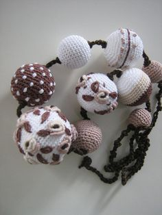 Crochet necklace  Monami by Suzann61 on Etsy, $45.00