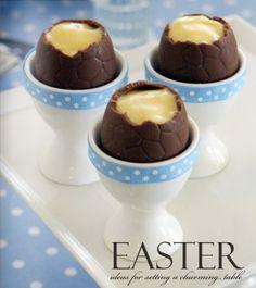 vanilla filled easter eggs