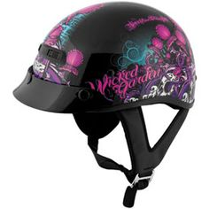 Speed and Strength SS300 Wicked Garden Ladies Open-Face Motorcycle Helmet   Riding Gear   Rocky Mountain ATV/MC