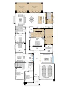 Narrow House Plans, Modern House Floor Plans, Bedroom Floor Plans, Family House Plans, Best House Plans, Dream House Plans, Home Library Design, Home Design Plans, Mcdonald Jones Homes