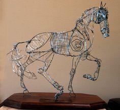 Wire horse sculpture Sentirse Vivo Attn PRICE DROP by EarthSugar, $199.00
