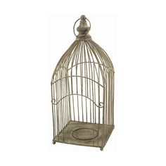 Luzzana Bird Cage Plant or Candle Holder ($34) found on Polyvore