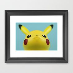 FRAMED ART PRINT Pikachu