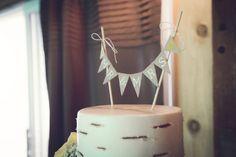 Birch Looking Wedding Cake