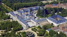 Vista aérea del palacio de La Granja