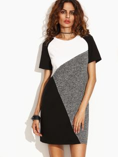 Shop Color Block Raglan Sleeve Tee Dress online. SheIn offers Color Block Raglan Sleeve Tee Dress & more to fit your fashionable needs.