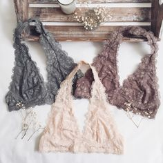 Our Kara Bralettes in Gray, Taupe & Blush  #bralettes #FrankiePhoenix
