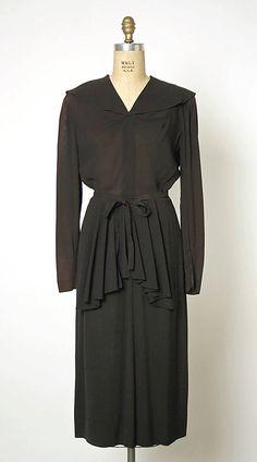 dress, rayon; Gilbert Adrian, ca. 1947