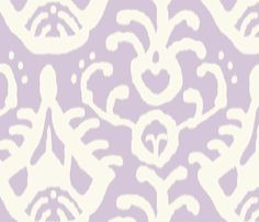 Lavender ikat  fabric by domesticate on Spoonflower - custom fabric (also in wallpaper)