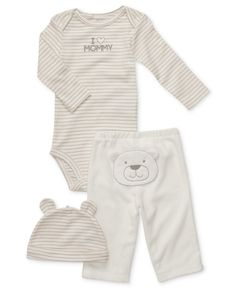 Carters Baby Set, Baby Boys or Baby Girls Turn Me Around 3-Piece Hat, Bodysuit and Pants - Kids Newborn Shop - Macys