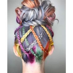 Beauty: Fantasy Unicorn Purple Violet Red Cherry Pink yellow Bright Hair Colour Color Coloured Color… - Home Bright Hair Colors, Hair Color Purple, Cool Hair Color, Lavender Colour, Color Red, Lavender Hair, Colourful Hair, Rainbow Hair Colors, Lavender Ideas