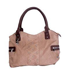 Trezo Tan Handbag with Studs & Dark Brown Trim Trezo http://www.amazon.com/dp/B00SRT3MZG/ref=cm_sw_r_pi_dp_SLG7ub1PG0Q4A