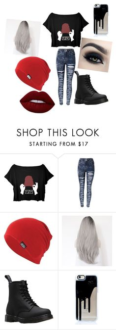 """Untitled #297"" by jazel117 on Polyvore featuring Converse, Dr. Martens, Too Faced Cosmetics and Lime Crime"