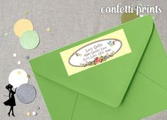 Personalized Printable Address Label - FANCY FAWN on Etsy, $6.00
