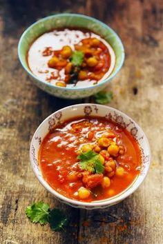 Mais pourquoi est-ce que je vous raconte ça... Dorian cuisine.com: Petite soupe de tomate à l'orientale pour commencer mon menu Reconfort'food Marque Repère !
