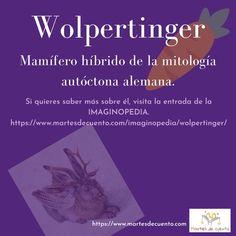 ¿Has visto alguna vez un wolpertinger? ¿No sabes qué animal es? Descubre más sobre él en la Imaginopedia de Martes de cuento Animal, Do I Wanna Know, Tuesday, Short Stories, Animals, Animaux, Animales