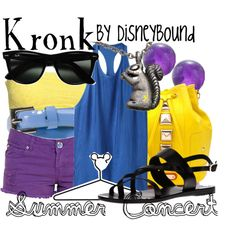 """Kronk"" by lalakay on Polyvore - I could see myself wearing this then ill have someone dress ""Ezma"" and  we shall act out their parts from the movie across town! It's brilliant, brilliant, brilliant!!"