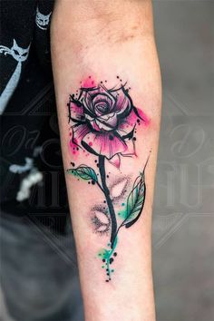 Luxuriöse schöne Aquarell Tattoo Ideen z. Frauen - Tattoos - Luxuriöse schöne Aquarell Tattoo Ideen z. Rose Tattoos, Sexy Tattoos, Body Art Tattoos, Small Tattoos, Sleeve Tattoos, Dainty Tattoos, Feminine Tattoos, Tatoos, Temporary Tattoo Designs