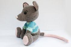 PATTERN : Amigurumi-Mouse Crochet pattern-Knitted by Anatillea