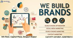 We offer online marketing solutions in all digital channels like SEO, SMO, PPC, and more. Get a free audit today! we understand the digital medium well enough to craft digital marketing strategies that grow your business and sales, no matter how small or new your brand.  www.Awizomtech.com Phone no. 0771-2412821, 2412921, 6268708414 Email: info@awizomtech.com Address: 5th Floor Capital Plaza, Near Fruit Market, Deopuri, Raipur (C.G.)- 492015 Top Digital Marketing Companies, Online Marketing Services, Online Marketing Strategies, Marketing Goals, Digital Marketing Strategy, Content Marketing, Internet Marketing, Seo Services, Media Marketing