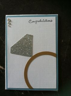 Engagement card - found this idea on the net and adapted for my cousins card