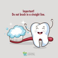 Make sure you brush all the surfaces of all your teeth, which should take about two minutes. Remember to brush the inside surfaces, outside surfaces and the chewing surfaces of your teeth. Dental Humor, Dental Hygiene, Dental Care, Oral Health, Dental Health, Dental Fun Facts, Dental Videos, Far Side Comics, Dental Assistant Jobs