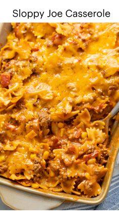 Beef Casserole Recipes, Crockpot Recipes Pasta, Easy Crockpot Meals, Beef Noodle Casserole, Chicken Tortilla Casserole, Easy Casserole Dishes, Ground Beef Casserole, Yummy Pasta Recipes, Corn Casserole