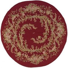 Le Jardin Round Red Rug