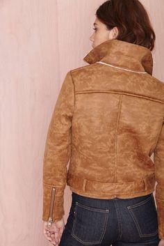 Suede female motorcycle jacket