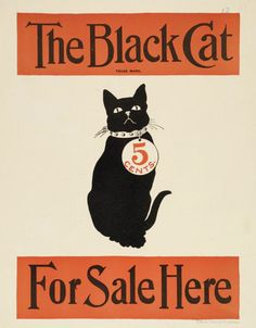 "design-is-fine: "" The black cat, magazine poster, 1896. """