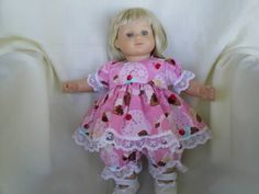 Cupcake party dress with bloomers for american by Lindasdollcloset, $8.50
