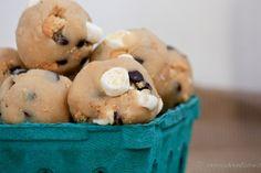 s'mores cookie dough bites recipe