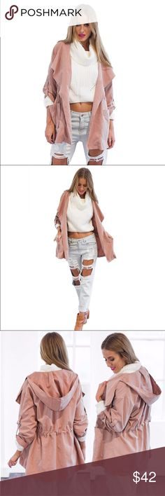 ***Basic*** Pink Hooded Jacket 2016 Autumn Basic Coat Fits S and M. No thick material. Jackets & Coats Trench Coats