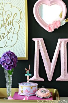 Pink, Purple and Pixie Dust Girl's Room Decor
