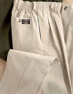 919b251a81f Creekwood® Big Mens Full Elastic-Waist Twill Pants Dress Pants